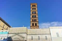 RZYM WŁOCHY, CZERWIEC, - 22, 2017: Zadziwiający widok kościół Santa Maria w Cosmedin w mieście Rzym, Zdjęcie Stock