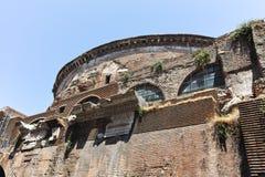 RZYM WŁOCHY, CZERWIEC, - 23, 2017: Zadziwiający widok panteon w mieście Rzym Fotografia Royalty Free