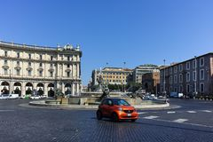 RZYM WŁOCHY, CZERWIEC, - 22, 2017: Zadziwiający widok piazza della repubblica, Rzym Obraz Royalty Free