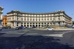 RZYM WŁOCHY, CZERWIEC, - 22, 2017: Zadziwiający widok piazza della repubblica, Rzym Zdjęcia Royalty Free