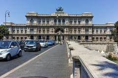 RZYM WŁOCHY, CZERWIEC, - 22, 2017: Zadziwiający widok sąd najwyższy kasacja w mieście Rzym Fotografia Stock