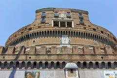 RZYM WŁOCHY, CZERWIEC, - 22, 2017: Zadziwiający widok St Angelo most Angelo w mieście Rzym i kasztelu st Obraz Royalty Free