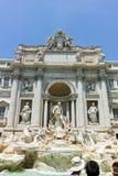 RZYM WŁOCHY, CZERWIEC, - 23, 2017: Zadziwiający widok Trevi fontanna Fontana Di Trevi w mieście Rzym Zdjęcie Stock