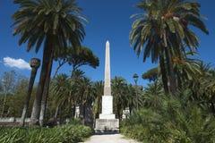 Rzym, Włochy, jeden obeliski willa Torlonia zdjęcia stock