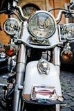 RZYM WŁOCHY, KWIECIEŃ, -, 25: Biały motocykl Harley Davidson, Kwiecień 25, 2013 Zdjęcia Stock