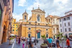 Rzym, Włochy - 23 06 2018: mały kościół w mieście Rzym zdjęcie royalty free
