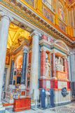 RZYM WŁOCHY, MAJ, - 08, 2017: Wśrodku bazyliki Santa Maria Obrazy Royalty Free