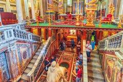 RZYM WŁOCHY, MAJ, - 08, 2017: Wśrodku bazyliki Santa Maria Obraz Royalty Free