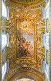 RZYM WŁOCHY, PAŹDZIERNIK, - 12, 2017: Sant ` Ambrogio e Carlo al Corso Zdjęcia Royalty Free