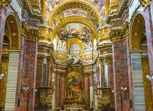 RZYM WŁOCHY, PAŹDZIERNIK, - 12, 2017: Sant ` Ambrogio e Carlo al Corso Zdjęcie Royalty Free