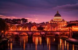 Rzym, Włochy przy półmrokiem Obraz Royalty Free