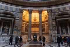 RZYM WŁOCHY, STYCZEŃ, - 27, 2010: Wewnętrzny widok panteon Fotografia Royalty Free