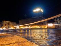 Rzym Włochy Wenecja kwadrat nocą tęsk ujawnienie Zdjęcia Royalty Free