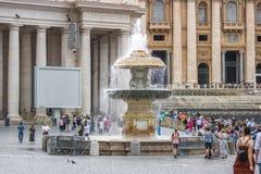 Rzym, Włochy - 23 06 2018: Widok fontanna w watykanie obrazy royalty free