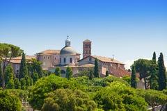 Rzym. Włochy. Widok od Palatynu wzgórza. Zdjęcie Stock