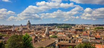 Rzym, Włochy - widok z lotu ptaka fotografia royalty free