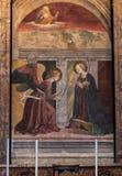 RZYM WŁOCHY, WRZESIEŃ, - 11, 2016: Panteon w Rzym, Włochy Melozzo da Forl Annunciation obrazy royalty free