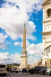 Rzym Włochy, Wrzesień, - 14, 2017: Sallustian obelisk trójca góry obraz stock