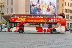 RZYM, WŁOCHY Citysightseeing Roma autobus Zdjęcia Royalty Free