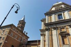 RZYM WŁOCHY, CZERWIEC, - 22, 2017: Fasada bazylika Papale Di Santa Maria Maggiore w Rzym Zdjęcia Stock