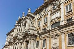 RZYM WŁOCHY, CZERWIEC, - 22, 2017: Fasada bazylika Papale Di Santa Maria Maggiore w Rzym Zdjęcia Royalty Free