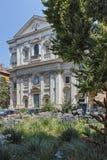 RZYM WŁOCHY, CZERWIEC, - 23, 2017: Zmierzchu widok bazylika San Carlo ai Catinari w Rzym Obrazy Royalty Free