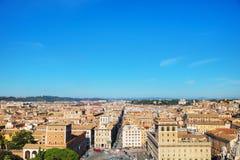 Rzym widok z lotu ptaka z piazza Venezia Obrazy Stock