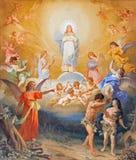 Rzym - wygnanie Adam i wigilia od raju na krypcie kościelny bazyliki Di Sant Andrea della Valle Virginio Monti obraz stock