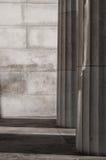 Rzymianów kamienni filary z naturalnym światłem Obrazy Stock