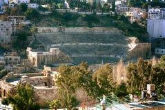 Rzymianin, amphitheatre, Amman, Jordania Obraz Stock