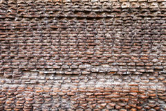 Rzymianin antyczna Ściana Fori Imperiali zdjęcia stock