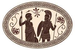 Rzymianin i Amazon ilustracja wektor