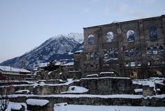 Rzymianin ruiny w zmierzchu Obraz Stock