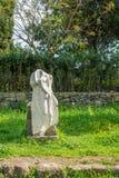 Rzymianin ruiny wzdłuż antycznego Appian sposobu Appia Antica w Rzym obrazy stock