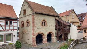 Rzymianina Kamienny hause Seligenstadt Niemcy obraz royalty free
