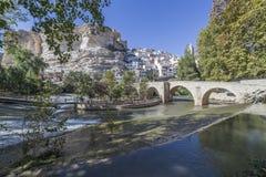 Rzymianina most, lokalizować w środkowej części miasteczko, swój pa Obrazy Royalty Free