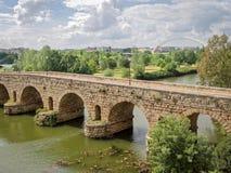 Rzymianina most nad Guadiana rzeką, Hiszpania obraz royalty free