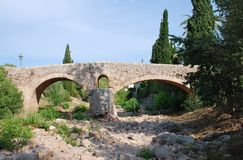 Rzymianina most, Pollenca, Majorca obrazy stock