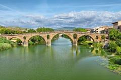 Rzymianina most przez Arga rzekę w Puente losu angeles Reina Obrazy Royalty Free