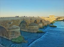 Rzymianina most w CÃ ³ rdoba, Hiszpania Obrazy Royalty Free