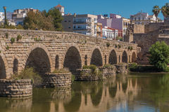 Rzymianina most w Merida, Hiszpania obraz royalty free