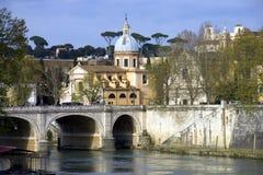 Rzymianina rzeka tygrys Bridżowy Rzeczny przód Zdjęcie Stock