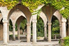 Rzymianina skąpanie w jardzie Balchik pałac, Bułgaria Obrazy Stock