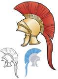 rzymianina stylowy hełm ilustracja wektor