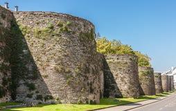 Rzymska ściana, Lugo, Hiszpania Obrazy Royalty Free