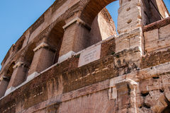 rzymska colosseum ściana zdjęcie stock