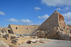 rzymski Caesarea teatr Obraz Stock