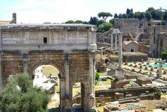 Rzymski forum od above i fotografia royalty free