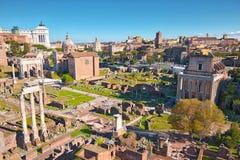 Rzymski forum w Rzym, Włochy obraz royalty free