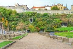 Rzymski muzeum przy fourviere wzgórzem Lion, Lion stary miasteczko, Francja fotografia royalty free